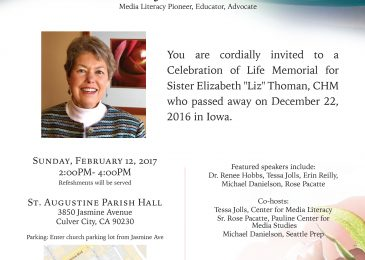 "Elizabeth ""Liz"" Thoman, Media Literacy Pioneer, Memorial Planned"