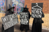 Witches Come Out to Support Planned Parenthood as Pro-Life People Protest